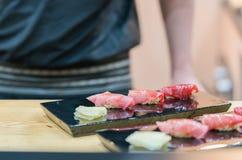 Premium Akami and Chutoro Sushi Tuna Sushi Royalty Free Stock Photos