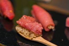 Premium Akami and Chutoro Sushi Tuna Sushi Royalty Free Stock Image