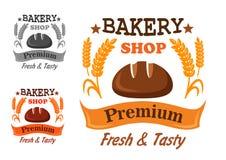 Premium bakery shop badge design Stock Photography