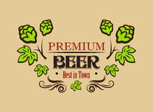 Premium beer banner or emblem Royalty Free Stock Photos