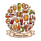 Premium beer concept Stock Images