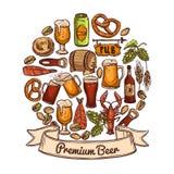 Premium beer concept Stock Images