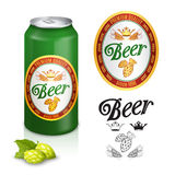 Premium beer label design Stock Photos