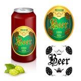 Premium beer label design Stock Photography
