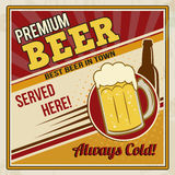 Premium beer retro poster Stock Photography