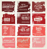 Premium, best choice, grunge banner collection Royalty Free Stock Photography