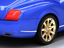 Premium blue car Royalty Free Stock Images
