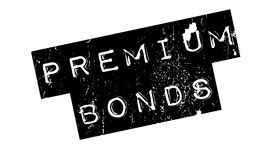 Premium Bonds rubber stamp Royalty Free Stock Photo