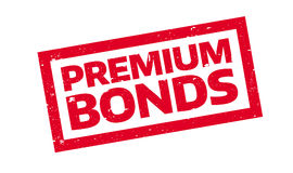 Premium Bonds rubber stamp Royalty Free Stock Images