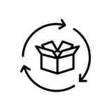 Premium box icon or logo in line style. stock illustration