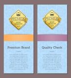 Premium Brand Quality Check Premium Best Label Royalty Free Stock Photos