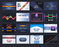 Premium Business Card Design Vector. Vector different 16 cards design Stock Images