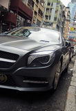 Premium car on the street luxury brands mercedes benz Royalty Free Stock Photo