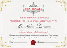 Premium certificate template design Stock Photos