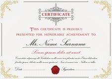Premium certificate template design Stock Photos
