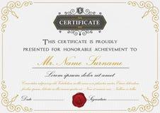Premium certificate template design Royalty Free Stock Image