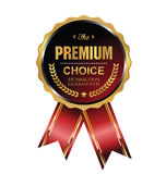 Premium choice label. Premium choice red and gold  label Stock Photo