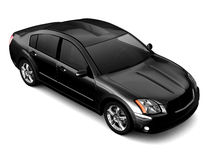 Premium class black car illustration Stock Images