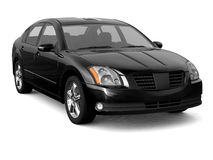 Premium class blak car front view Stock Photo