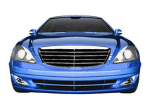 Premium class blue car front view Royalty Free Stock Photo