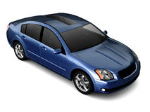 Premium class dark blue car illustration Stock Photography