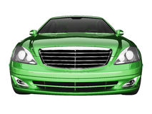 Premium class green car front view Royalty Free Stock Photos