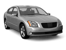 Premium class silver car front view Stock Photo