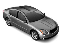 Premium class silver car illustration Stock Photography