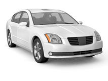 Premium class white car front view Royalty Free Stock Images