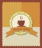 Premium coffee stock illustration