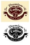 Premium coffee banner Royalty Free Stock Photo
