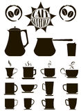 Premium coffee icons Stock Images