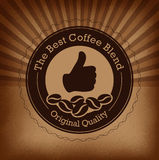 Premium coffee label over vintage background Royalty Free Stock Photo