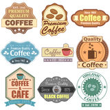 Premium Coffee label tag sticker for Advertisement Royalty Free Stock Photography