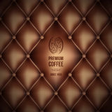 Premium coffee (leather theme) Royalty Free Stock Photo