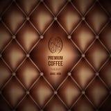 Premium coffee (leather theme) Royalty Free Stock Photo