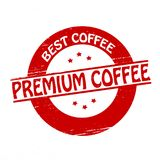 Premium coffee. Stamp with text premium coffee inside,  ilustration Royalty Free Stock Images