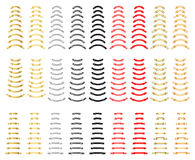 Premium colorful ribbons quality collection. Different color, gold ribbons, red, silver, grey, black, set of vintage banners, vector illustration for royalty free illustration