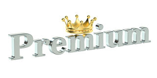 Premium concept, 3D rendering Royalty Free Stock Photo
