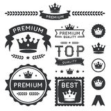 Premium Crown Badges & Vector Element Collection Stock Photos