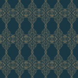 Premium damask seamless elegant pattern background for decor.  Royalty Free Stock Image