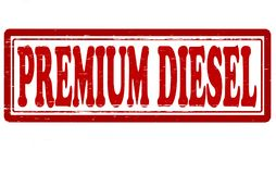 Premium diesel. Stamp with text premium diesel inside, illustration vector illustration