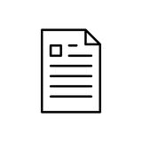 Premium document icon or logo in line style. Royalty Free Stock Image