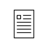 Premium document icon or logo in line style. High quality sign and symbol on a white background. Vector outline pictogram for infographic, web design and app royalty free illustration