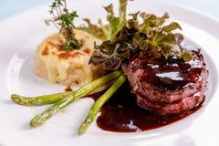Premium fillet tenderloin steak. Royalty Free Stock Images