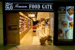 Premium Food Gate. WARSAW, POLAND - CIRCA NOVEMBER, 2017: entrance to Premium Food Gate in Warsaw Chopin Airport royalty free stock images
