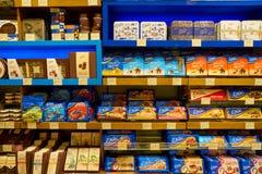 Premium Food Gate. WARSAW, POLAND - CIRCA NOVEMBER, 2017: goods on display at Premium Food Gate in Warsaw Chopin Airport stock photo