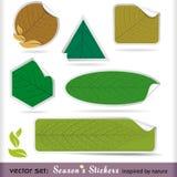 Premium Four Seasons Labels Stock Photo