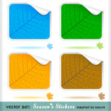 Premium Four Seasons Peeling Labels Royalty Free Stock Photos