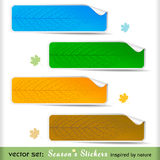 Premium Four Seasons Sale/ Offer Labels Royalty Free Stock Images